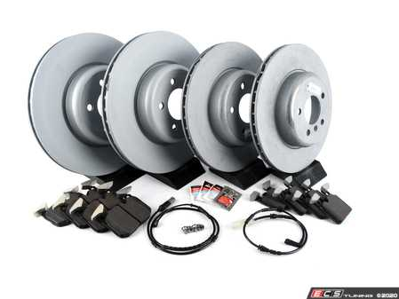 ES#3515001 - 341167922231KT3 - Front & Rear Brake Service Kit - Featuring Zimmermann rotors and Pagid pads - Assembled By ECS - BMW