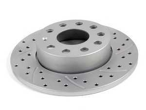 ES#2550520 - 1K0601LXSGMTR - Brake Rotor Cross Drilled & Slotted Geomet Coated - Right - Cross drilled and slotted right hand side individual rotor assembly - ECS -
