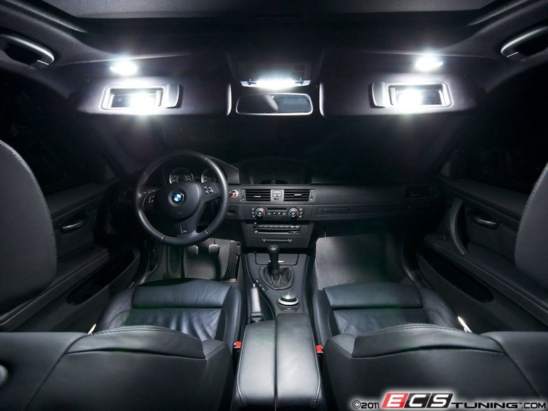 ecs news bmw e90 led interior lighting kit. Black Bedroom Furniture Sets. Home Design Ideas