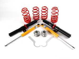 "ES#9552 - 39258-11 - Premium Performance Coilover Kit - Fixed Dampening - Average lowering 2006-2007 (1.2-2.5""F 1.3-2.4""R) 2008- (0.6-1.9""F 0.7-1.8""R) - H&R - Volkswagen"