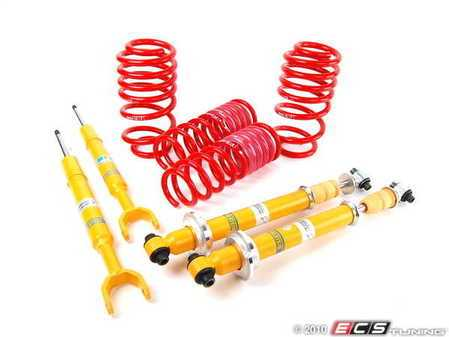 ES#1075 - 299962BSC -  Cup Kit - H&R Race Springs With Bilstein Sport Shocks - Aggressive looks with ultimate handling - Assembled By ECS - Audi