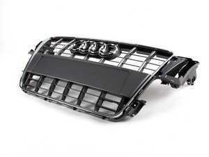 ES#517605 - 8T0853651F1RR - S5 Grille Assembly - Platinum Grey/Chrome Trim - Includes the chrome Audi rings - Genuine Volkswagen Audi - Audi