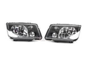 ES#2207874 - HVWJ4HL-B - European Headlight Set - Black - With fog lights, with smoked turn signals - Helix - Volkswagen
