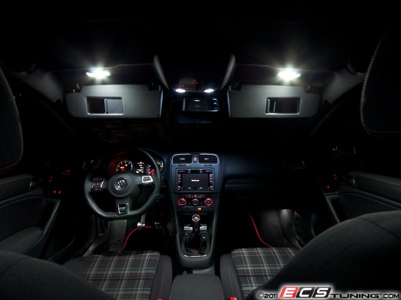 ECS News - Ziza LED Interior Lighting Kits for VW MKVI Golf/GTI/R