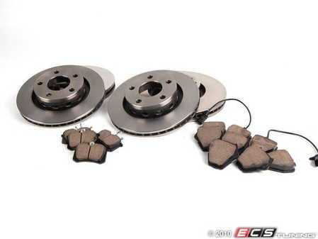 ES#2083366 - 4B3698002 - ECS RPS Kit - Complete, Pilenga Rotors & Akebono Euro Ceramic Pads - Everything you need to service your brakes in an afternoon. - Assembled By ECS - Volkswagen