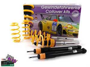 ES#2214989 - 10281031 - KW V1 Series Coilover Kit - Variant 1 coilovers offer the best balance between sporty driving and comfort - KW Suspension - Audi Volkswagen