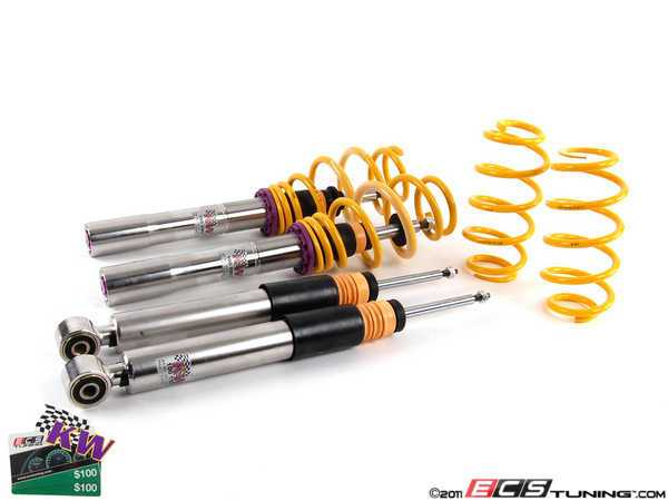 ES#2214991 - 35281031 - KW V3 Series Coilover Kit - The ultimate in coilover technology featuring double adjustable dampening - KW Suspension - Audi Volkswagen