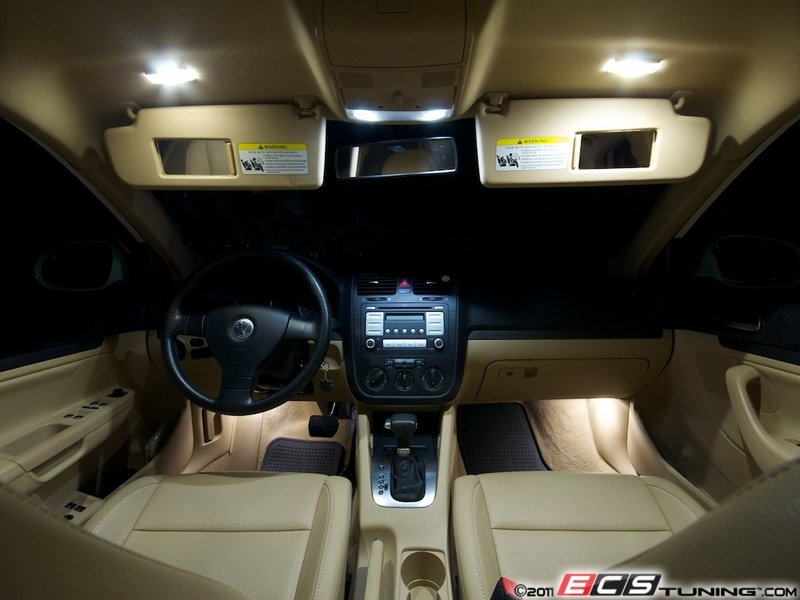 Can Light Conversion Kit >> ECS News - VW MKV Jetta LED Interior Lighting Kit