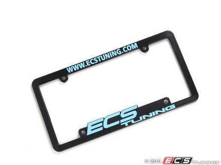 ES#264052 - ECS-LP-FRAME-SKY - ECS Tuning License Plate Frame - Sky Blue - Black fade resistant plastic frame with raised letters - ECS - Audi BMW Volkswagen Mercedes Benz MINI Porsche