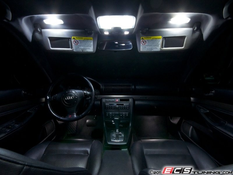 ecs news audi b5 a4 ziza interior led kits. Black Bedroom Furniture Sets. Home Design Ideas