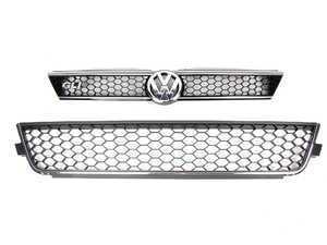 "ES#2215335 - 5C6853651B041 - MKVI Jetta Sedan Replacement Front GLI Grill Kit - Black honeycomb grille, includes front chrome ""VW"" & ""GLI"" emblem - Genuine Volkswagen Audi - Volkswagen"