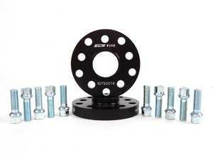 ES#8824 - ECS40255571WBK -  ECS Wheel Spacer And Bolt Kit - 20mm With Ball Seat Bolts - Comes with everything you need to install spacers on two wheels - ECS - Audi Volkswagen