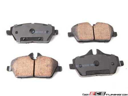ES#2015168 - EUR1308 - Front Euro Ceramic Brake Pad Set EUR1308 - Restore the stopping power in your MINI - With Shims - Akebono - MINI