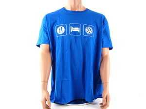 ES#2202515 - 13670S - Royal Blue Eat, Sleep, Volkswagen T-Shirt - Small - Live it, nothing but Volkswagen! - DriverGear - Volkswagen