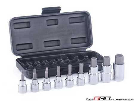 "ES#11420 - HBS-M9PCSh - Hex Head Socket Kit - 9 Pieces - 3/8"" and 1/2"" Drive Allen, 4-17mm - Schwaben - Audi BMW Volkswagen Mercedes Benz Porsche"
