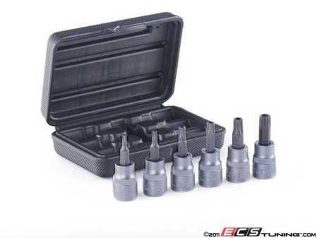 """ES#11419 - hbs-6pcstp - 6 Pc. 3/8"""" Drive Tamper Resistant Torx Socket Set - 3/8"""" Drive T15-T50 - Schwaben - Audi BMW Volkswagen Mercedes Benz MINI Porsche"""