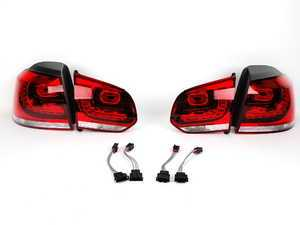 ES#2221156 - 5K0998001KT -  European LED Tail Light Set - Cherry Red - Complete set of LED tail lights with wiring from the European market GTI - Genuine European Volkswagen Audi - Volkswagen
