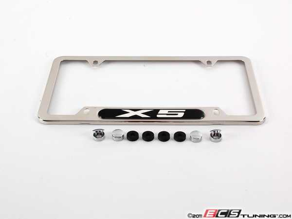 82120418629 bmw license plate frame x5 polished plate frame. Cars Review. Best American Auto & Cars Review