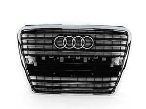 ES#383844 - 4E0853651BET94 -     Grille Assembly - Glossy Black - Includes the chrome Audi rings - Genuine Volkswagen Audi - Audi