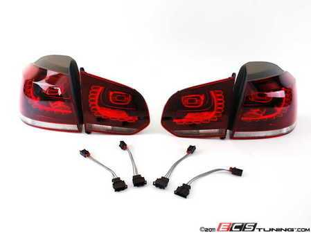 ES#2221162 - 5K0998004KT -  European LED Tail Light Set - Tinted - Complete set of LED tail lights with wiring from the European Golf R - Genuine European Volkswagen Audi - Volkswagen