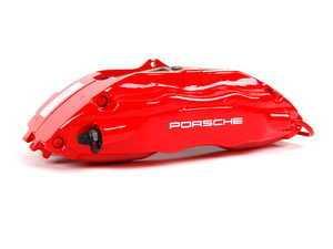 "ES#9077 - 99335142610 - Front ""Big Red"" Caliper - Right side fitment - Genuine Porsche - Porsche"