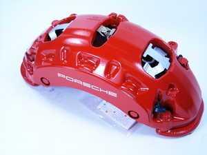 ES#260874 - 95535142170 - Front Left Brake Caliper - Red - Red caliper for Turbo models - Genuine Porsche - Porsche