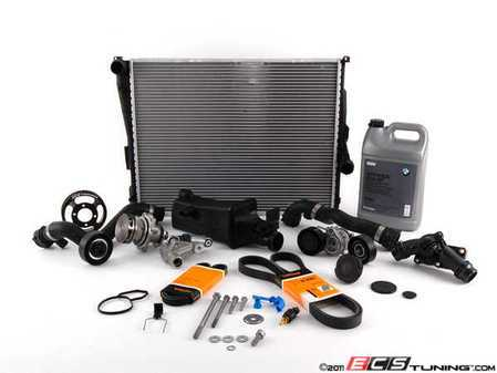 ES#2228841 - 17119071517KT - ECS Cooling System Refresh Kit - Level 3 - The  ultimate cooling refresh kit - with aftermarket components, including an ECS Aluminum Pulley and featuring a GEBA water pump - Assembled By ECS - BMW