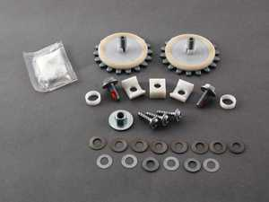 ES#96228 - 51377201455 - Mounting Part Set For Convertible Rear Glass - Priced Each - For mounting the glass to window lifter - Genuine MINI - MINI