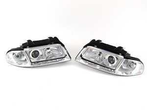 ES#458 - B5A4S4ECOXEN - Euro Xenon Headlight Set - Upgrade to the European style housings without amber indicators - Valeo - Audi