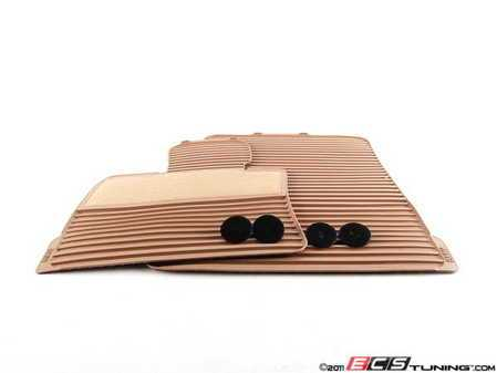ES#120764 - 51470416692 - Front Rubber Floor Mat Set - Savannah Beige - (NO LONGER AVAILABLE) - Front set of rubber floor mats featuring a carpeted heel pad - Genuine BMW -