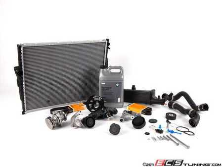 ES#2228847 - 17119071519KT - ECS Cooling System Refresh Kit - Level 3 - The  ultimate cooling refresh kit - with aftermarket components, featuring an ECS Aluminum Pulley and a HEPU water pump - Assembled By ECS - BMW