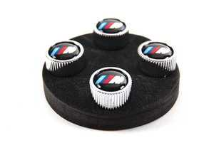 ES#64234 - 36110421543 - ///M Valve Stem Cap - Set Of 4 - A set of silver caps featuring the ///M logo - Genuine BMW - BMW