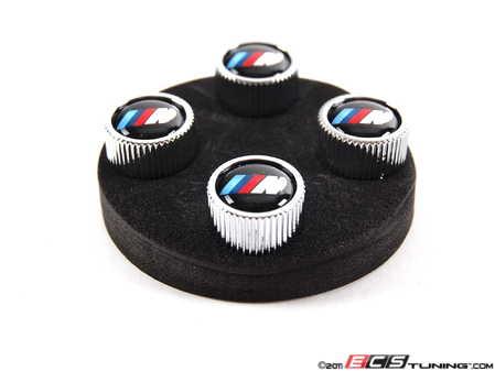 ES#64234 - 36110421543 - ///M Valve Stem Cap - Set Of 4 - A set of silver caps featuring the ///M logo - Genuine BMW - BMW