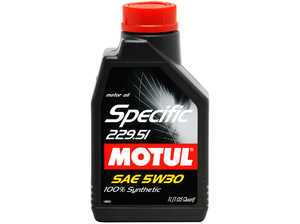 ES#261481 - 842611 - Specific 229.51 5w30 - 1 Liter - Low viscosity, high HTHS Synthetic Motor Oil especially designed for extended oil change intervals. - Motul -