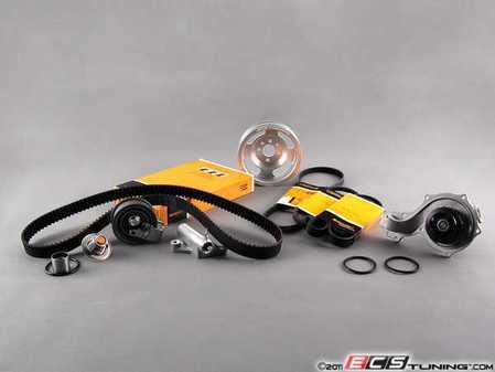 ES#5597 - 058198479v2lwslv - Timing Belt Kit - Ultimate - Includes silver ECS Tuning lightweight crank pulley - Assembled By ECS -