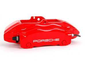 ES#9133 - 99635142511 - Front Brake Caliper - Red - Left side fitment - Genuine Porsche - Porsche