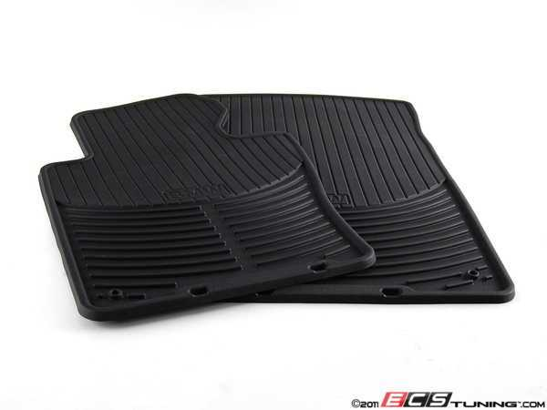 ES#196733 - 82550136372 - Front All Weather Rubber Floor Mat Set - Black - Keep your BMW's carpet protected from slush and mud - Genuine BMW - BMW