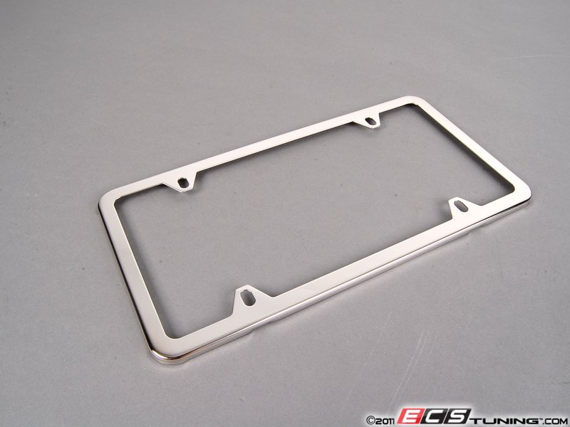es196051 82120010396 license plate frame polished polished stainless steel plate