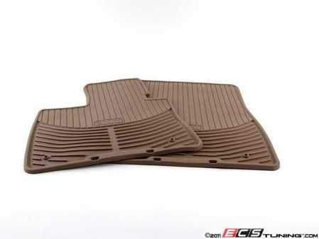 ES#2563265 - 82112318673 - Front All Weather Rubber Floor Mat Set - Beige - (NO LONGER AVAILABLE) - A thin profile mat designed to protect your carpet year round - Genuine BMW -