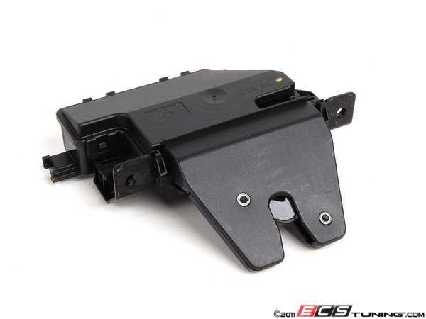 ES#92216 - 51247840617 - Trunk Lid Latch/Lock - Located beneath the trunk lid, secures the trunk lid in place. - Genuine BMW - BMW