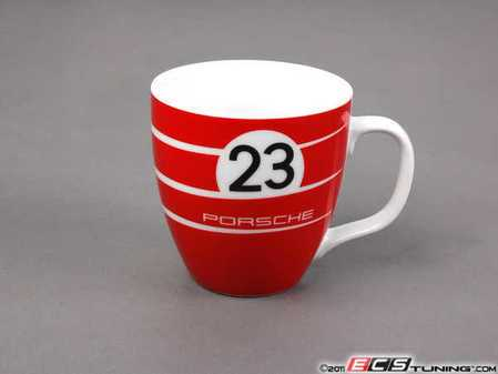 ES#2504266 - WAP0500080C - 917K Salzburg Ceramic Coffee Mug - (NO LONGER AVAILABLE) - Exciting red and white design - Limited edition of 4000 units worldwide - Genuine Porsche -