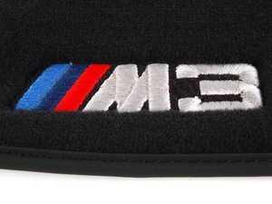 ES#2498817 - 82112293526 - ///M3 Carpeted Floor Mat Set - Black - Black floor mats featuring embroidered ///M3 logo - Genuine BMW - BMW