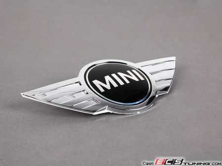 ES#79250 - 51147026186 - MINI Cooper Rear Trunk Emblem - Replace that faded or damaged chrome with new - Genuine MINI - MINI