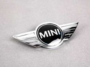 ES#79249 - 51147026184 - MINI Cooper Hood Emblem - Replace that faded or damaged chrome with new - Genuine MINI - MINI