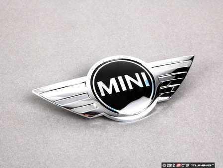 ES#79249 - 51147026184 - MINI Cooper Hood Emblem - Replace that faded or damaged chrome with new - Genuine MINI - MINI