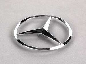 ES#1701225 - 1648170016 - Mercedes Star Emblem - Located on the rear hatch of your vehicle - Genuine Mercedes Benz - Mercedes Benz
