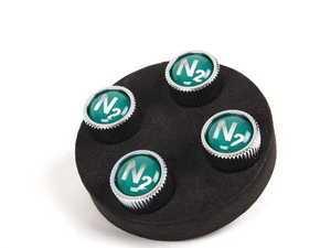 ES#1305127 - 36110439435 - Nitrogen Valve Stem Caps - Set Of 4 - For tires filled with nitrogen - Genuine BMW - MINI