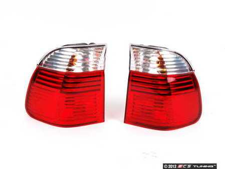 ES#253258 - 63216902531/532 - European Tail Light Set - (NO LONGER AVAILABLE) - White / Red / Red - Genuine European BMW -