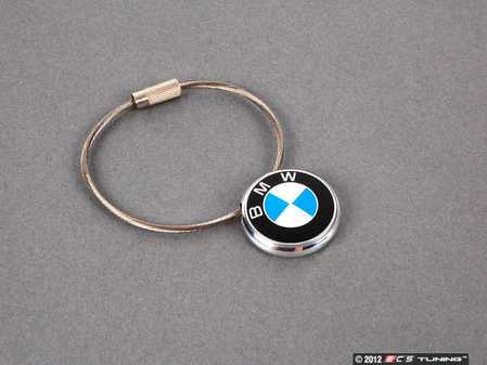 ES#11407 - 80230409883 - BMW Key Chain - (NO LONGER AVAILABLE) - Featuing a stainless cable and BMW roundel - Genuine BMW -