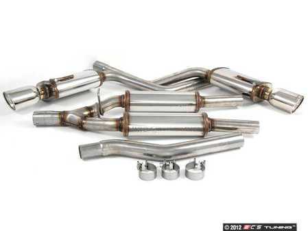 "ES#1892705 - 16601 - Cat-Back Exhaust System - 2.25"" stainless steel with dual 4"" polished stainless tips - Magnaflow - Audi"